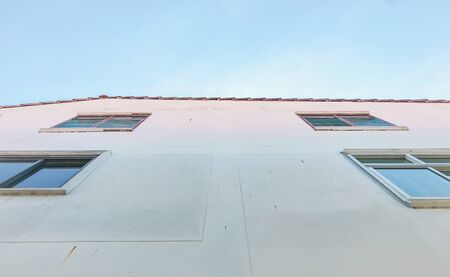 The window in an ordinary building 스톡 콘텐츠
