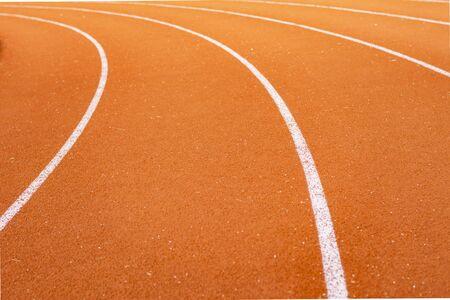 Red running track for athletics at stadium