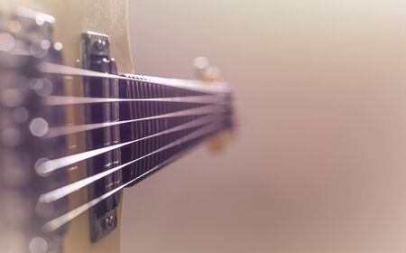 Electric guitar sunburst closeup, macro abstract
