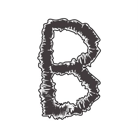 compatible: pattern font black B compatible with small pattern font black a-z and can to do many thing on web design or website.