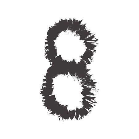 compatible: number black eight compatible with font black A-Z and small font black a-z,can to do many thing on web design or website. Illustration