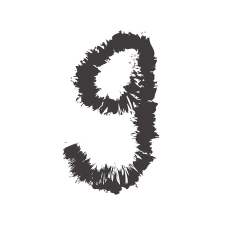 compatible: number black nine compatible with font black A-Z and small font black a-z,can to do many thing on web design or website. Illustration