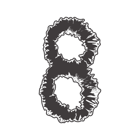 compatible: pattern number black eight compatible with small pattern font black a-z and pattern font black A-Z,can to do many thing on web design or website. Illustration
