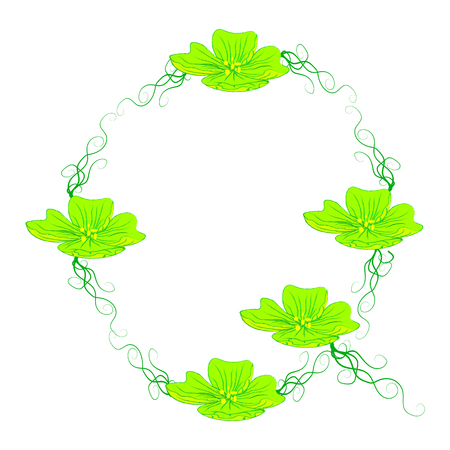 green it: font green flower Q it all have green color. Illustration