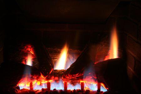 chemin�e gaz: