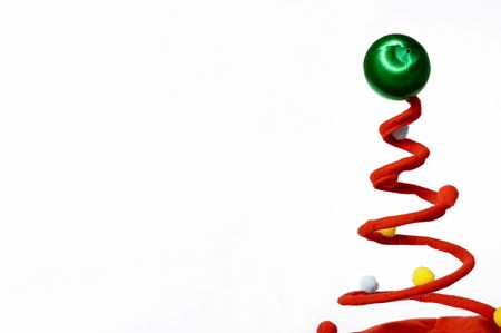 a twisted christmas tree with room for text stock photo 3880442 - A Twisted Christmas