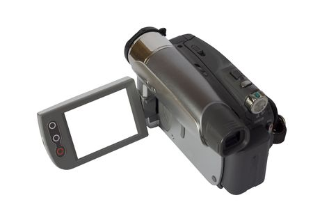 A video camera with a blank screen for text. 版權商用圖片