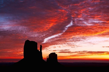 Scenic view of Monument Valley Utah USA Stock Photo - 8218778