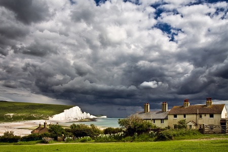 Storm brewing over the Seven Sisters photo