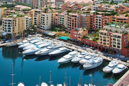 An assortment of boats and yachts in a marina at Monte Carlo Stock Photo - 8369874