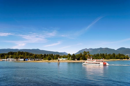 Paddle steamer near Coral Harbour Vancouver