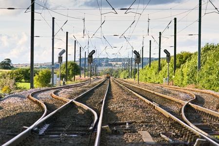 East Coast main line near Alnmouth Northumberland