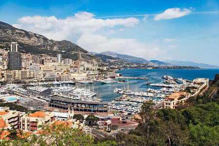 An assortment of boats and yachts in the habour and  marina at Monte Carlo photo