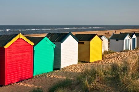 Colourful beach huts on Southwold beach Suffolk Stock Photo - 8369941