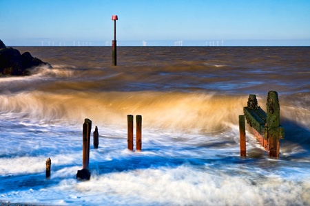 Reculver sea defences have seen better days Stock Photo - 8370008