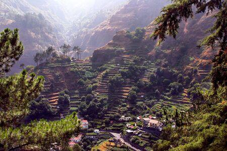 gradas: Terrazas de Madeira Foto de archivo