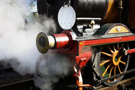 buffers: Stepney steaming at the Bluebell Railway Sheffield Park Station East Sussex Stock Photo