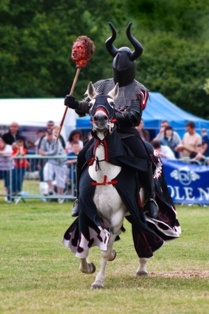 marquees: Black knight re-enactment at the Hop Farm Kent Stock Photo