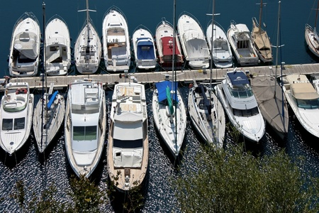 moorings: An assortment of boats and yachts in a marina at Monte Carlo