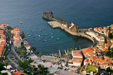 Harbour in Madeira Stock Photo