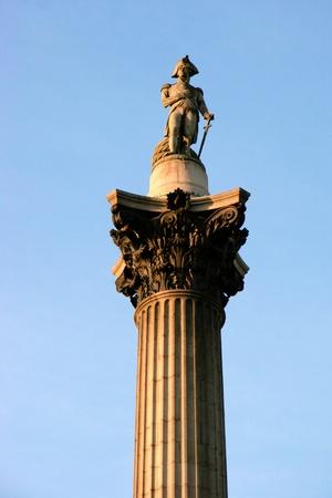 trafalgar: Close-up of part of Nelsons column in Trafalgar Square London