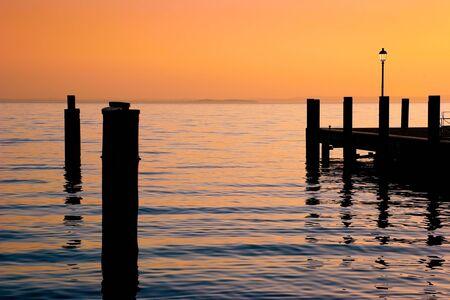 Dusk at Garda Lake Garda Italy photo