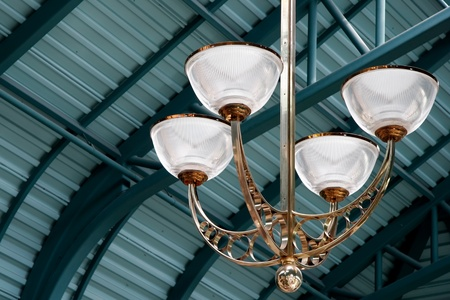 fitting in: Close-up view of a light fitting in the Victoria Conference Centre