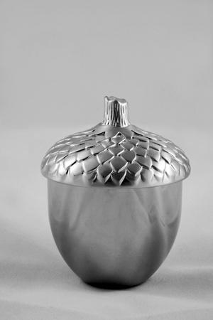 Silver acorn candle pot Stock Photo - 8401329