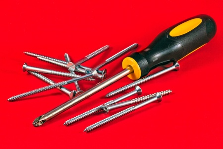 Screw driver and screws photo