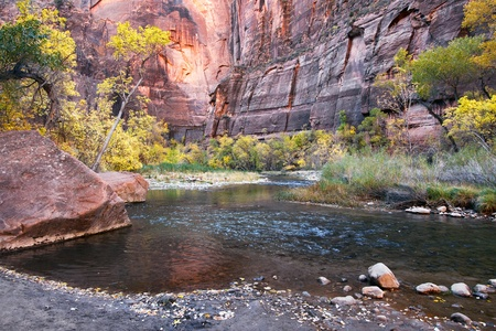 Zion National Park Utah autumn landscape virgin photo