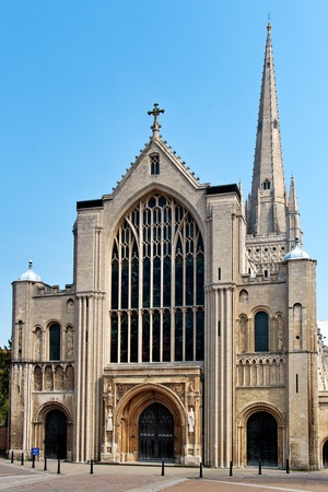 consecrated: Norwich Cathedral Stock Photo