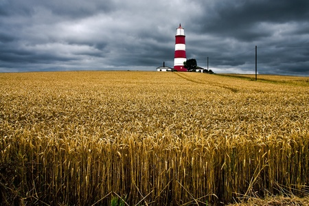 Storm approaching Happisburg Lighthouse