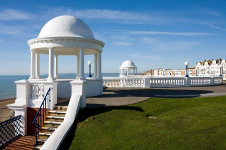 Colonnades in grounds of De La Warr Pavilion Bexhill On Sea East Sussex photo