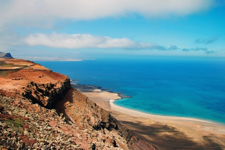 Coastline of Lanzarote 免版税图像