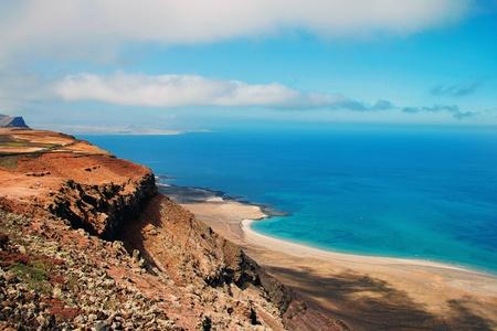 lanzarote: Kust lijn van Lanzarote Stockfoto