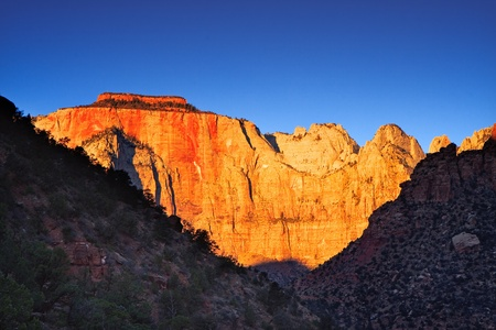 canyon walls: The West Temple