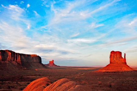 desolated: Scenic view of Monument Valley Utah USA