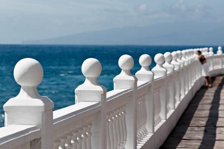 Balustrade along the coastline near Porto Santiago photo