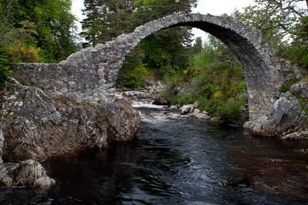 strathspey: Packhorse bridge at Carrbridge Stock Photo