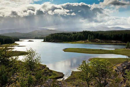 Loch Laggan 免版税图像