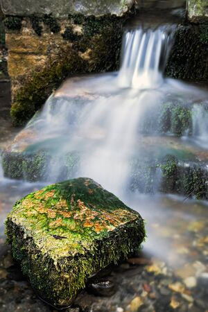 Tiny waterfall in Sussex photo