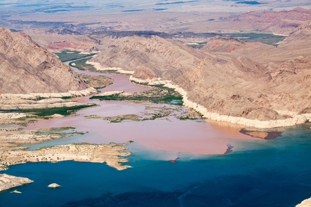 joins: Colorado River joins Lake Mead