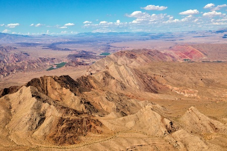 Aerial view of the Colorado River photo