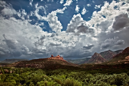Mountains surrounding Sedona photo