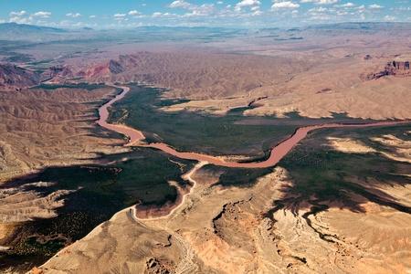 Aerial view of the Colorado River Foto de archivo