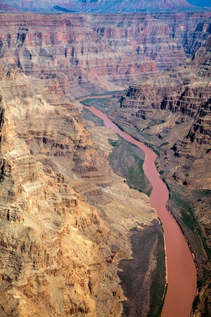 Aerial view of the Grand Canyon photo
