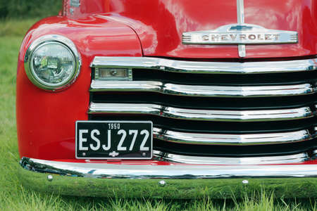 chevrolet: Old red Chevrolet