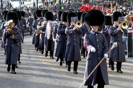 Band of the Honorable Artillery Company marching at the Lord Mayors Show London