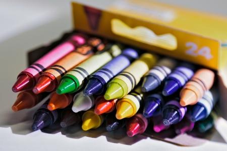 Box of Crayons Standard-Bild