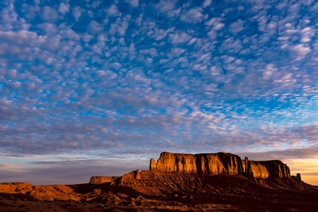 speckle: Scenic view of Monument Valley Utah USA
